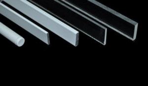 Beschwerungen für Gardinen, Beschwerungsstäbe aus Plexiglas